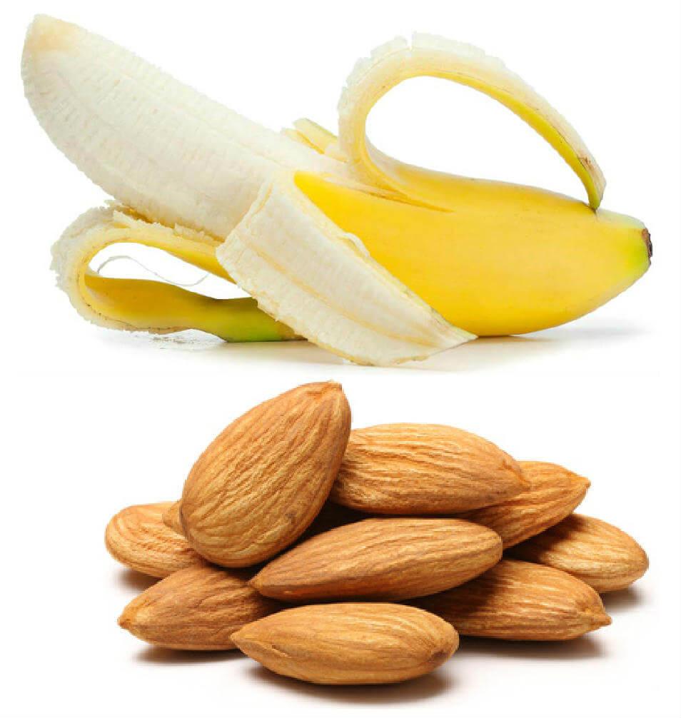 mandler og bananer
