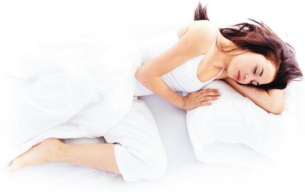 ligge på siden og sove