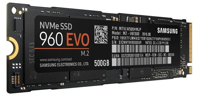 Samsung 960 Evo ssd harddisk