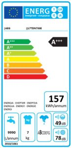 AEG L7TDN733E energi