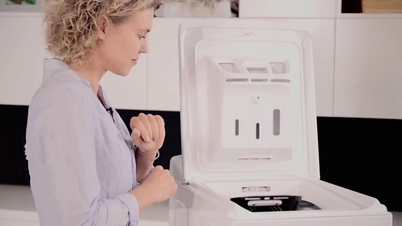 betjening af topbetjent vaskemaskiner