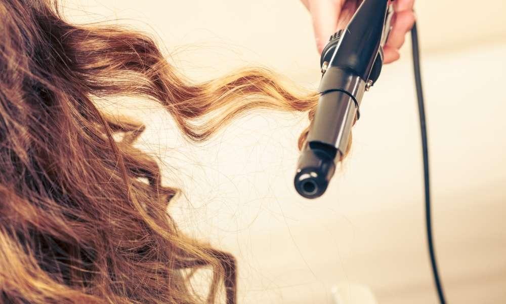 krøllejern til langt hår