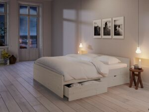 Nordic Dream sengeramme i hvid fyr