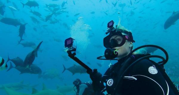 GoPro-dykker