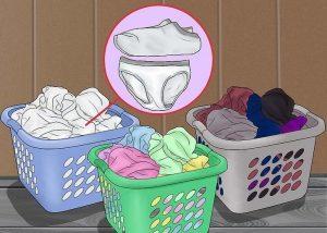 Sortera tvätten efter färg