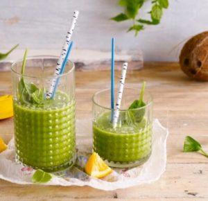 Grøn kokos-smoothie