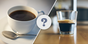 Hvad er forskellen på kaffe og espresso?