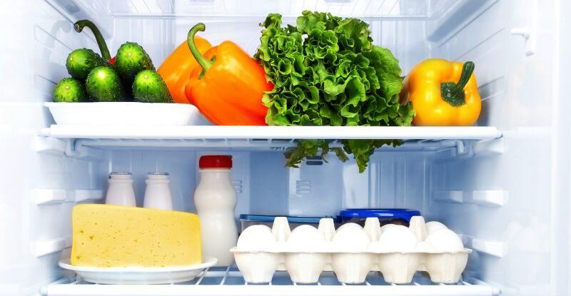 Förvaring av mat i kylskåpet