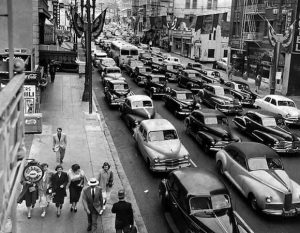 biltrafik 1950