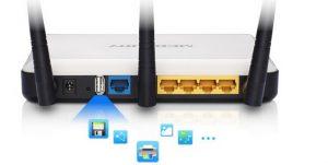 wifi router med usb