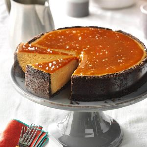 Cheesecake med saltkaramel og cappuccino
