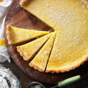 Shortbread citrontærte
