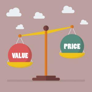 pris mod værdi