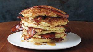 Pandekager med bacon