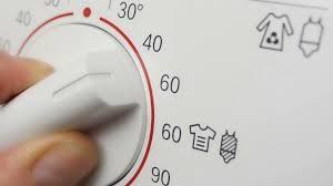 Inddel vasketoejet efter temperatur