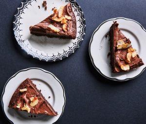 Chokoladekage med makroner