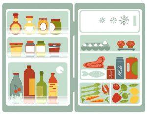 Förvara maten på rätt plats i kylskåpet