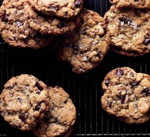 Saltede chokoladecookies