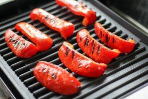 grillet rød peber