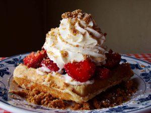 Cheesecake-vafler