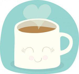 Kaffe gjør deg lykkelig