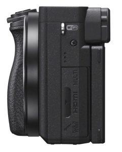 Sony A6400 fra siden