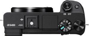 Sony A6400 ovenfra